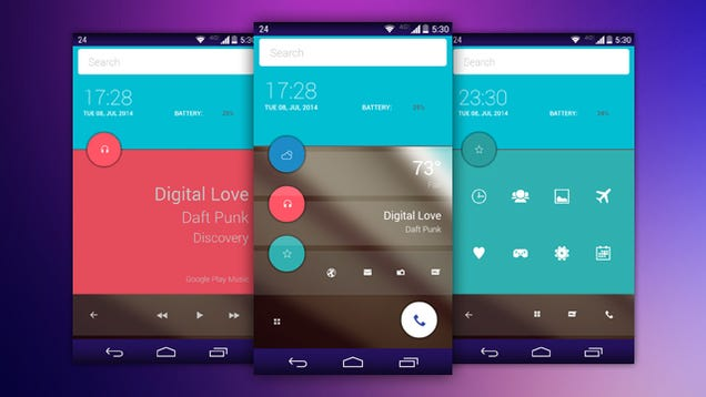 The Android L Home Screen