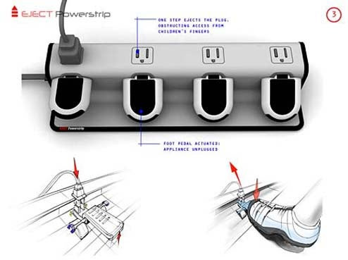 Eject Powerstrip Concept Makes For Lazy Unplugging