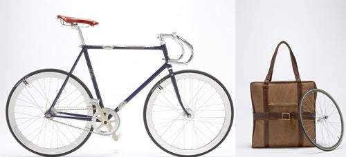 Wallpaper Magazine's Bikes Fold into a Small Leather Bag