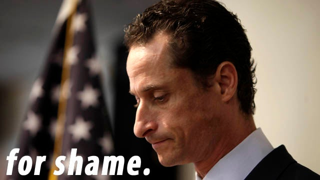 Weiner's Last Stand Marked By Smart-Ass Hecklers