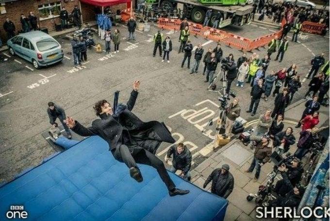 Watch Benedict Cumberbatch's Sherlock Fall Into Everything Everywhere
