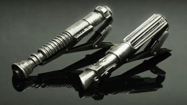 Sharp Dressers Secure Ties, TIEs with Lightsaber Tie Tacks