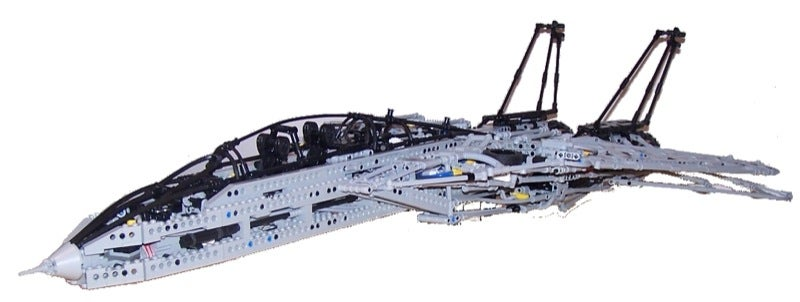 Gigantic LEGO Tomcat F-14 Ready to Take Off