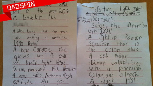 My kid s insane christmas wish list annotated