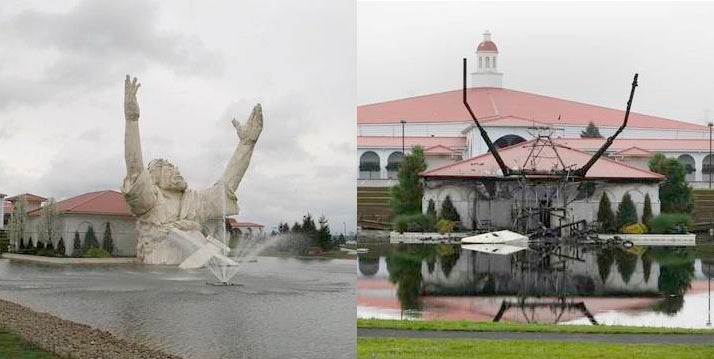 Touchdown Jesus Statue Destroyed By Act Of God (UPDATE WITH VIDEO)