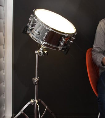 Sound Activated Drum Light Would Make a Banging Bat Signal