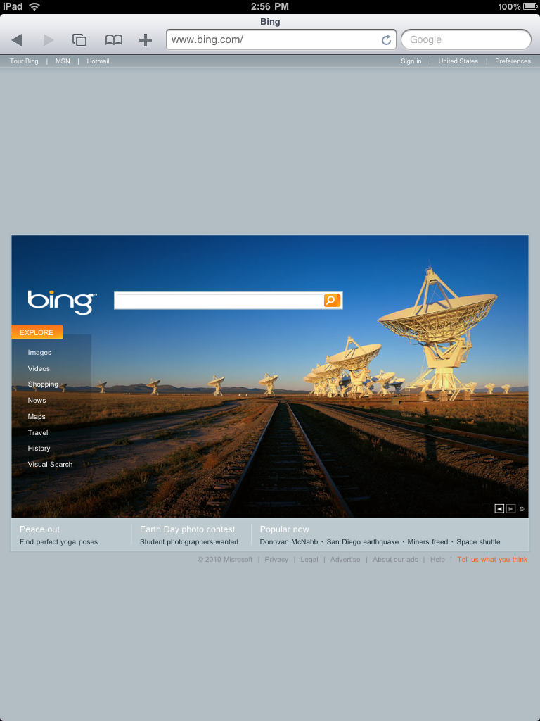 Websites on the iPad Gallery