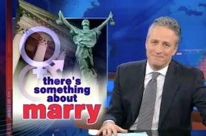 Jon Stewart Details President Obama's DOMA Shift