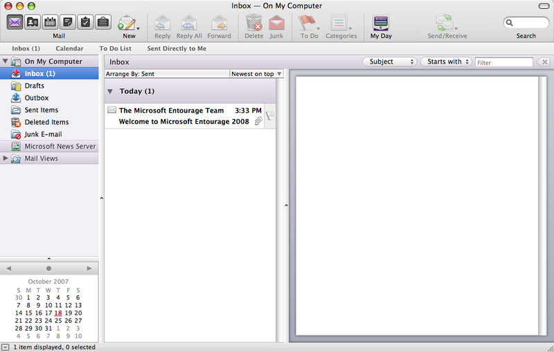 First Look at Microsoft Office 2008 for Mac