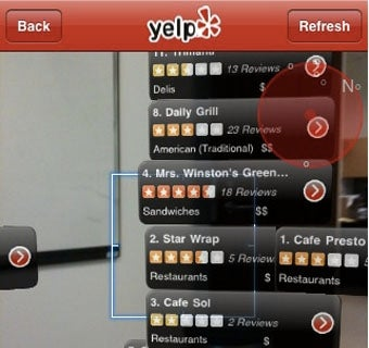 Activate Yelp's Augmented Reality Feature on iPhones