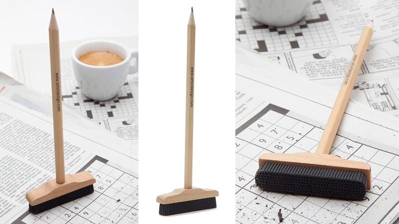 This Adorable Pencil Broom Lets You Sweep Mistakes Under the Rug