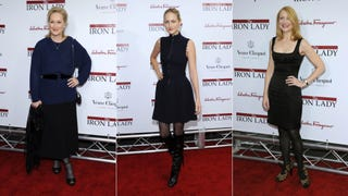 Stars Looked Dour At <i>Iron Lady</i> Premiere