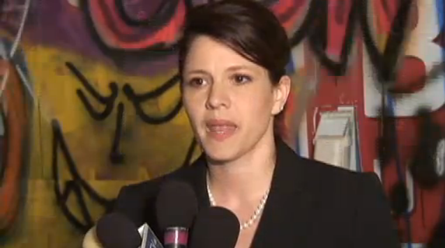 GOP Candidate Speaks Against Sexism in Room Covered in Sexist Graffiti