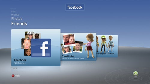 Live Test of Facebook on the Xbox 360