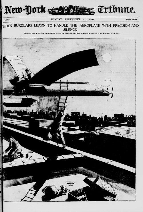 Retrofuturistic Burglars Use Silent Airplanes to Commit Daring Crimes