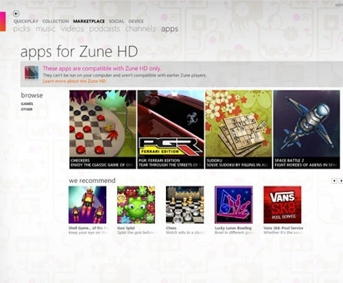 Zune HD Gets Its First 3D Games (And They're All Free)