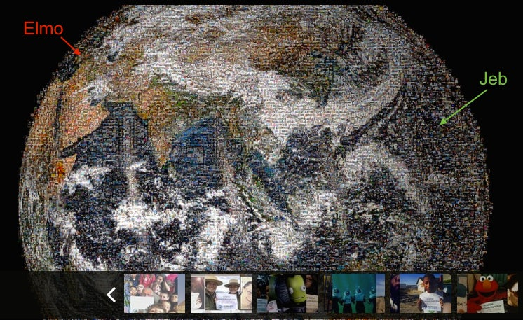 A Global Portrait Mosaiced from Self Portraits