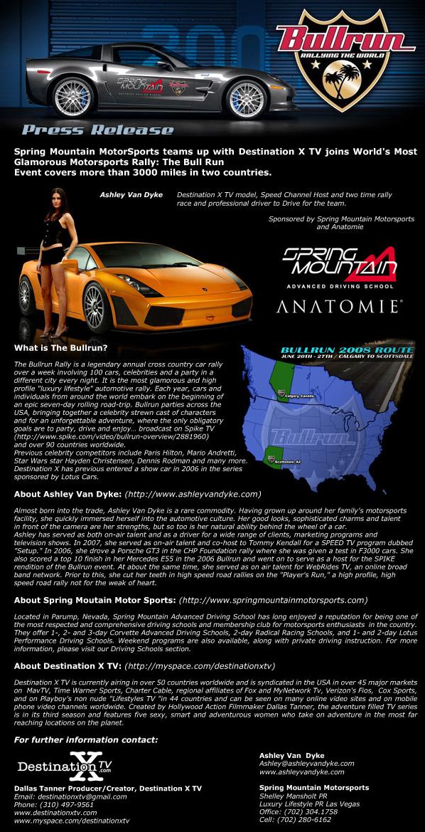 Ashley Van Dyke Is NOT Driving A Corvette ZR1 In The Bullrun