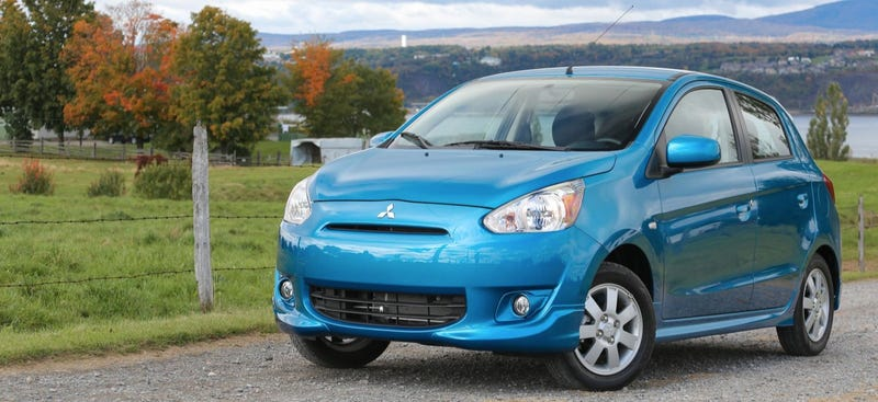 Standing Tall, Someone Admits To Owning A 2014 Mitsubishi Mirage