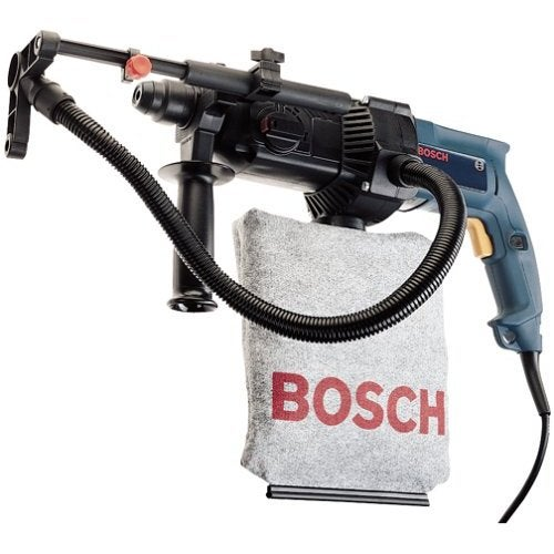Bosch Rotary Hammer Drills Walls While Sucking Dust