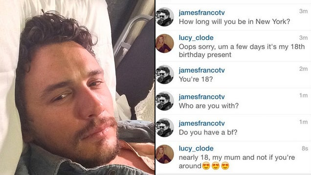 James Franco Tried To Pick Up a Teenage Girl on Instagram