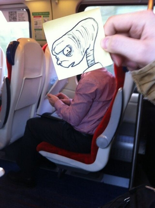 How to pass time on the train and amuse the entire internet too