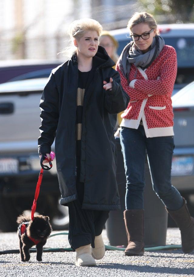 Kelly Osbourne & Her Dog Sport Similar Hairstyles
