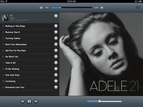 Rdio iPad App Gallery