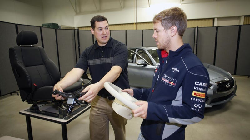 Chief Infiniti Scientist Sebastian Vettel Tours His U.S. Labs