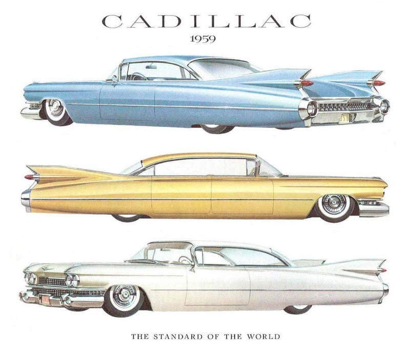 Slammed '59 Cadillacs