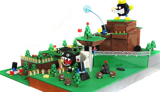 El primer nivel de Super Mario 64 hecho en Lego 856152644973314708