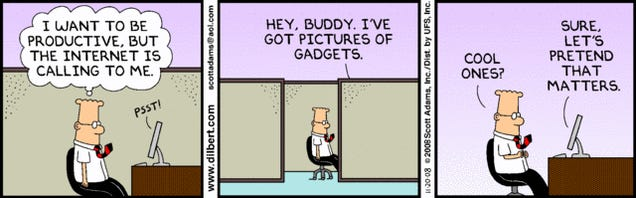 Harsh Reality Behind the Gizmodo/Reader Symbiosis Revealed by Dilbert