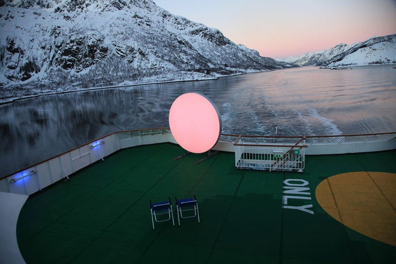 This Hypnotic Sculpture Is a Substitute Sun During Long Arctic Winters