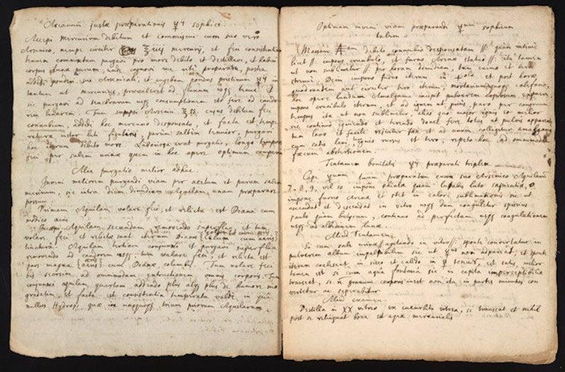 Redescubren la legendaria receta de Isaac Newton para crear la piedra filosofal
