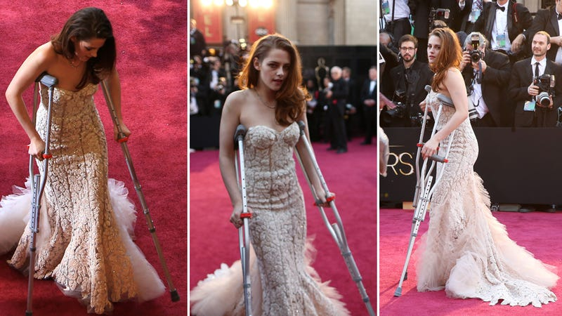 Why Did Kristen Stewart Look Like She'd Been Hit by a Car at the Oscars?