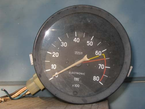 Half Price Junkyard Sale Yields $3.01 Fiat Tachometer For 20R Sprite Hell Project