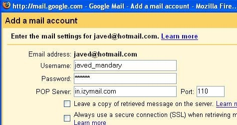 How to read your Hotmail from Gmail