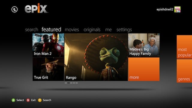 Xbox 360 Apps Gallery