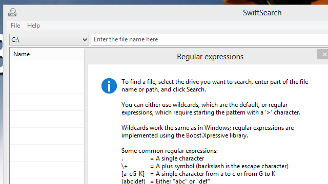 SwiftSearch Quickly Searches Your Files With Regular Expressions