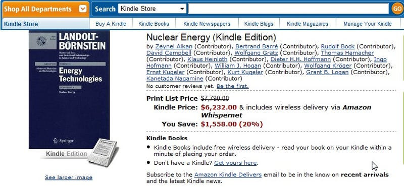 Anti-Dealzmodo: The $6,200 Kindle Book
