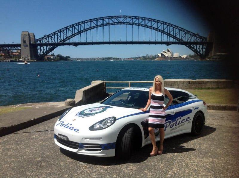 Porsche Police Car