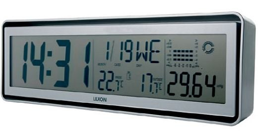 Lexon Status Clock Gives You Important Info, Sans Frills