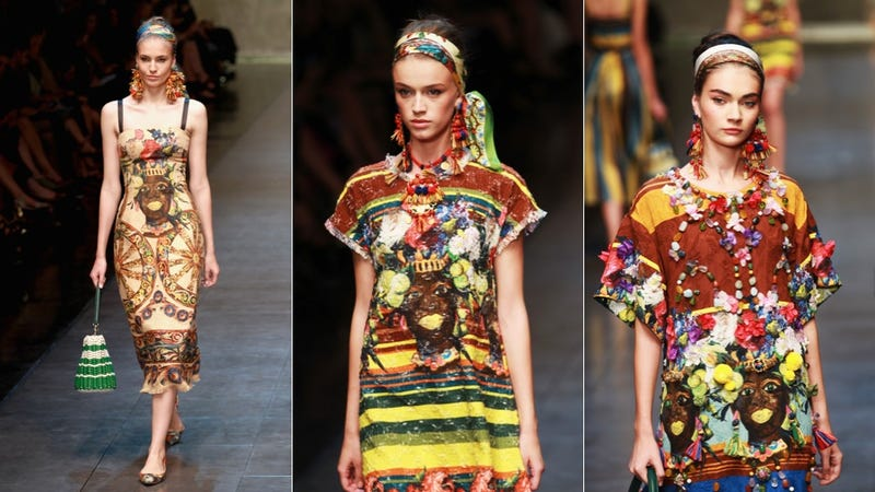 Dolce & Gabbana Shows Racist 'Mammy' Earrings and Fabric Prints