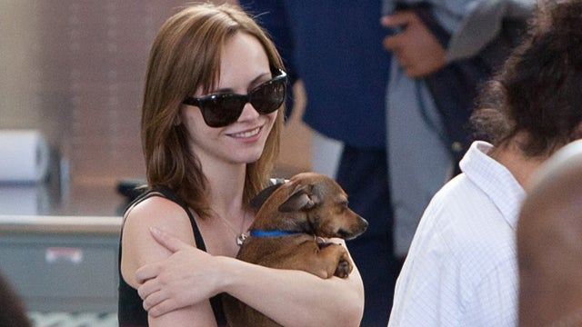 Christina Ricci Indulges In A Little Puppy Love