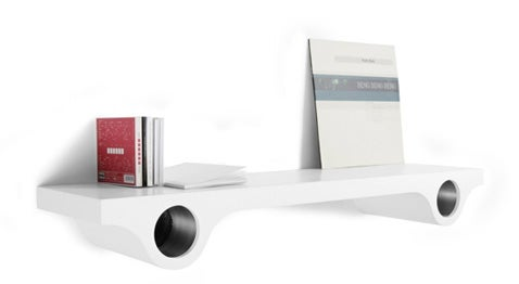 Wazz Shelf Hides Those Unsightly Speakers