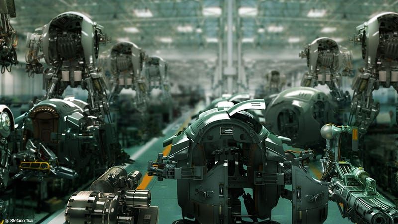 Robot Factories Are Where Shiny Gun Arms Are Made