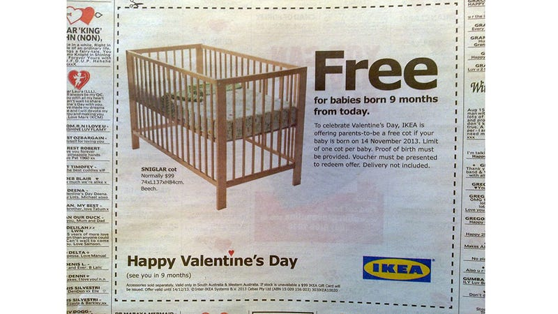 Get Pregnant Today, Get a Free Ikea Crib in 9 Months