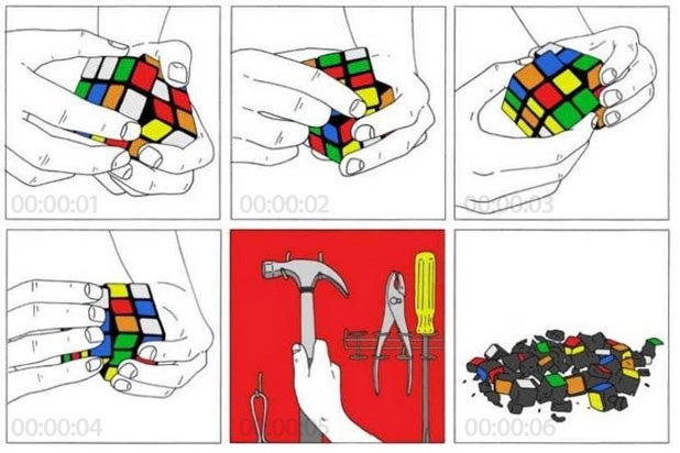 How to Solve the Rubik Cube in Six-Seconds Flat
