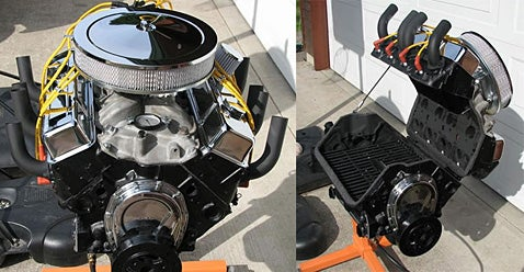 BBQ Grill Made of a V8 Engine Block