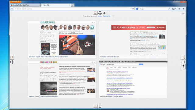 New Tab Pro Adds a Custom Recent Sites Grid to New Firefox Tabs
